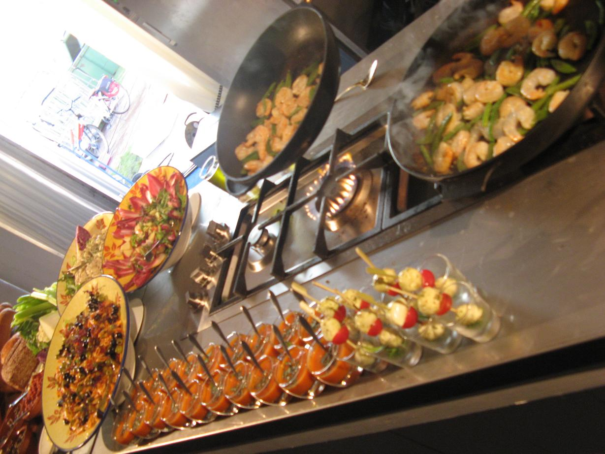 catering, decoratie, buffet, diner